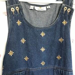 Sunshine Apparel Denim Overall jumper Dress (A-52)